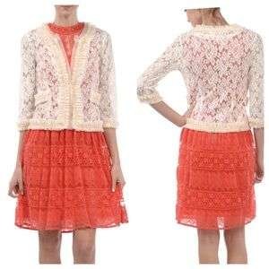 A'reve 3/4 Sleeve Lace Cardigan
